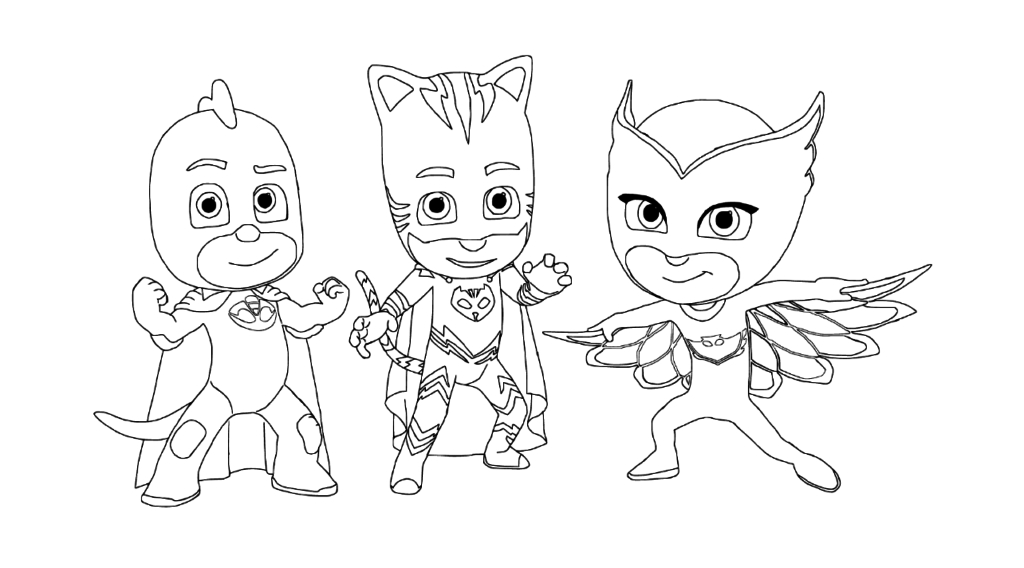 pj masks coloring pages - pj masks coloring pages to and print for free 4