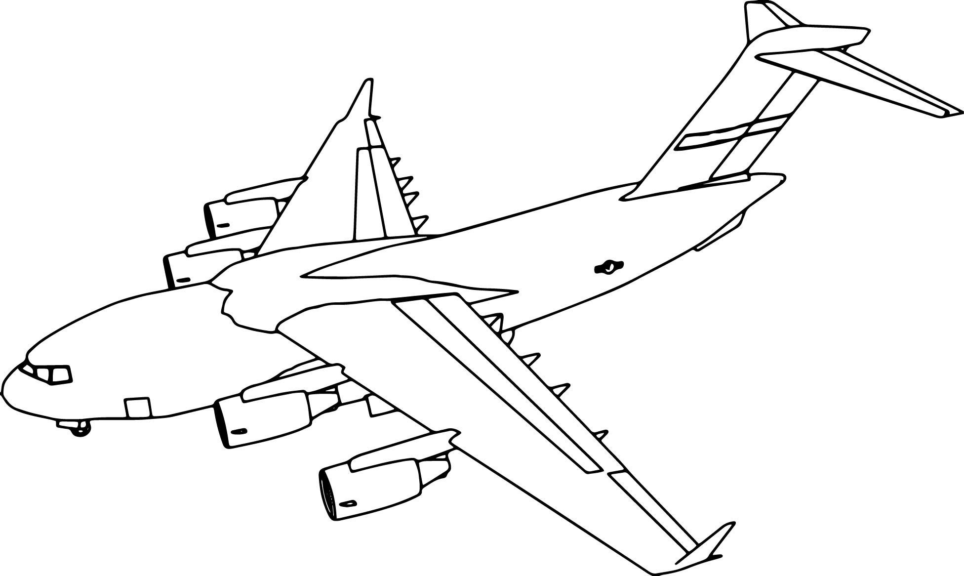 plane coloring pages - c17 plane coloring page