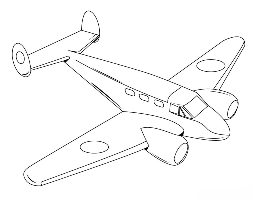 plane coloring pages - r=jet fighter plane