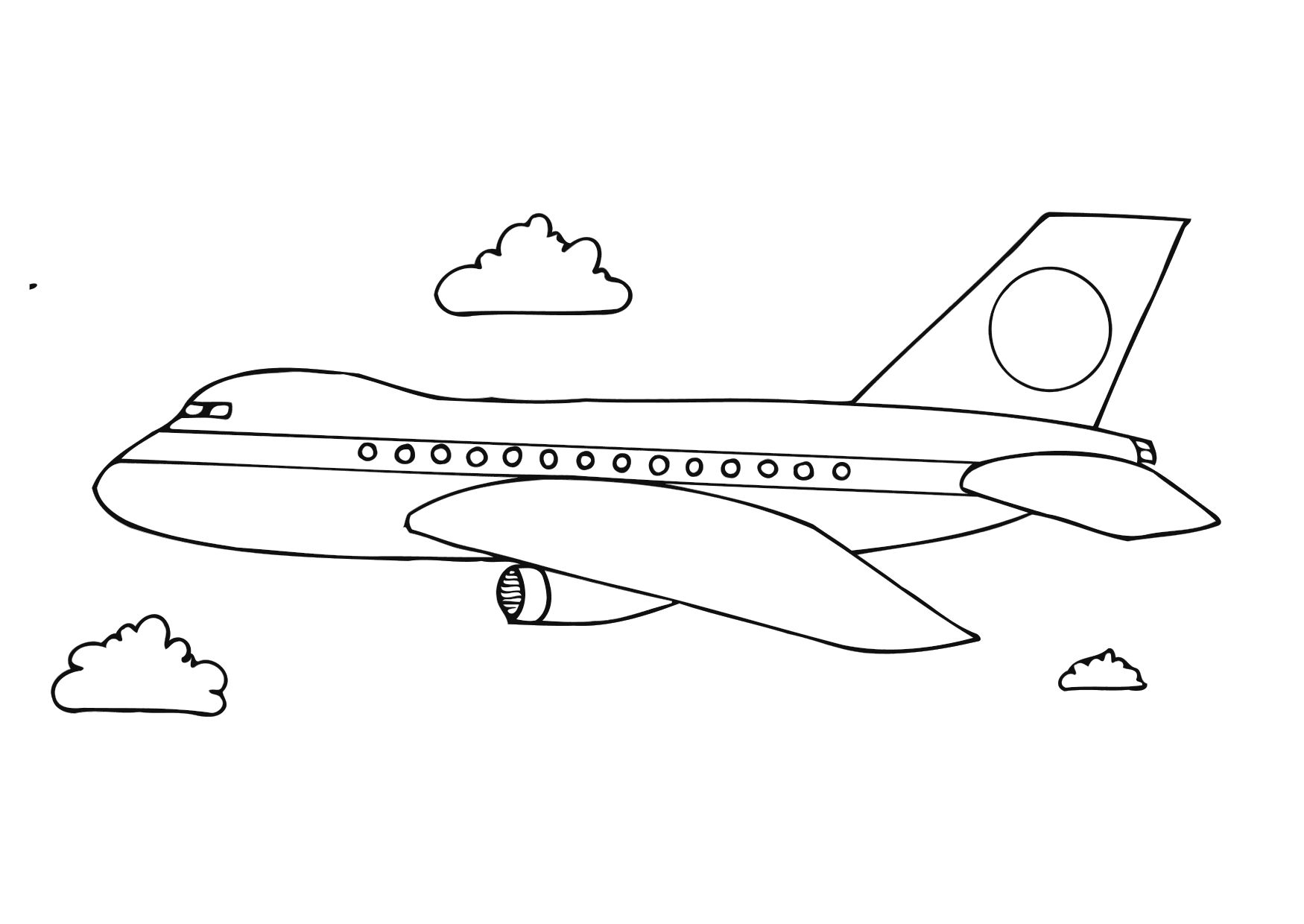 plane coloring pages - airplane coloring pages
