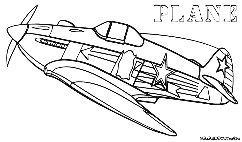 plane coloring pages - plane coloring pages