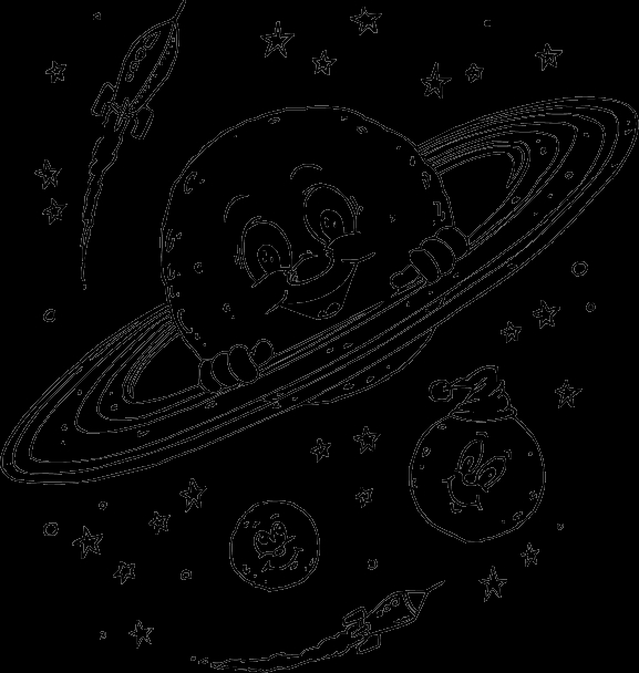 planet coloring pages - planet saturn coloring pages