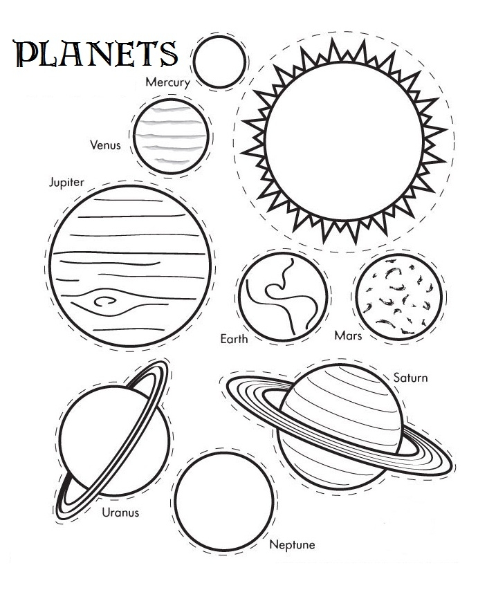planet coloring pages - coloring pages of planets cut out templates