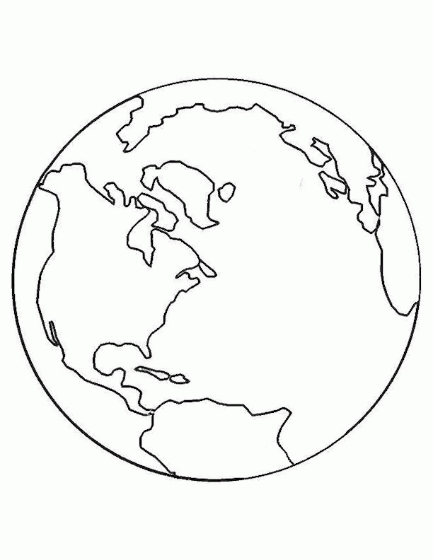 planet coloring pages - planet earth coloring pages