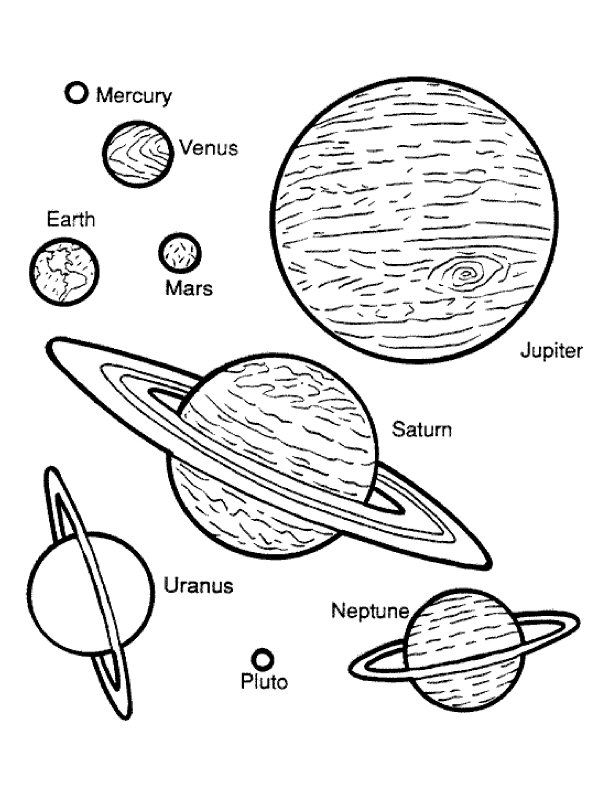 planet coloring pages - planets coloring page