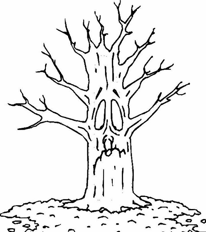 plant coloring pages - dead tree coloring pages