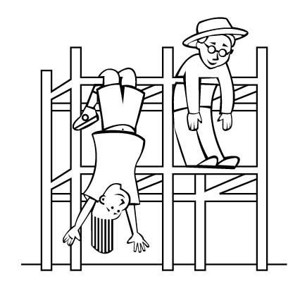 playground coloring pages - monkey bars