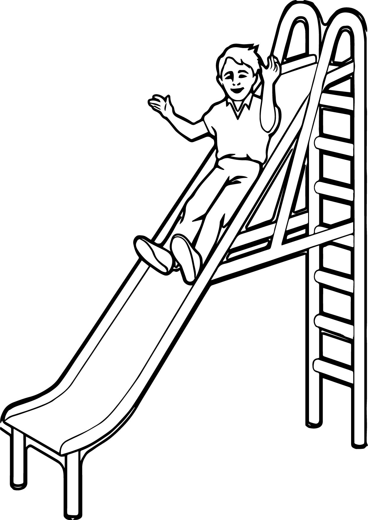 playground coloring pages - slide coloring pages