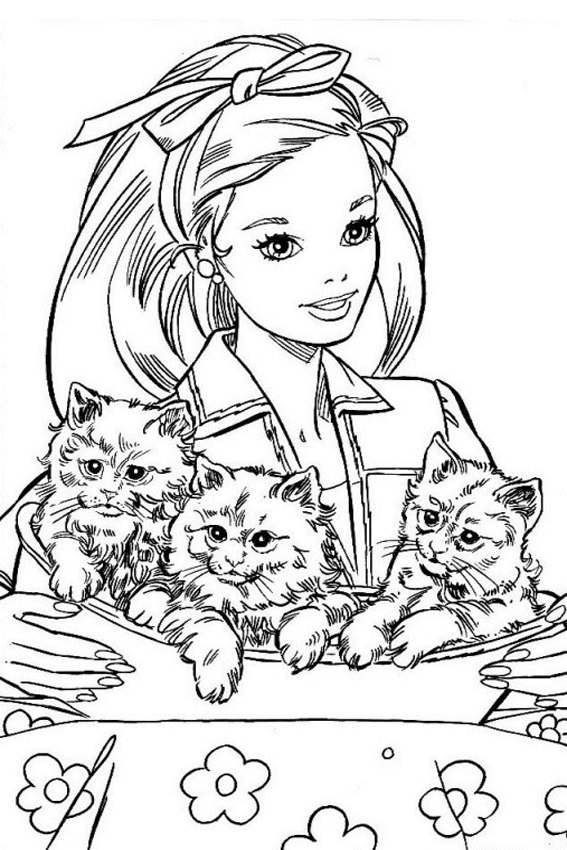pluto coloring pages - barbie coloring pages