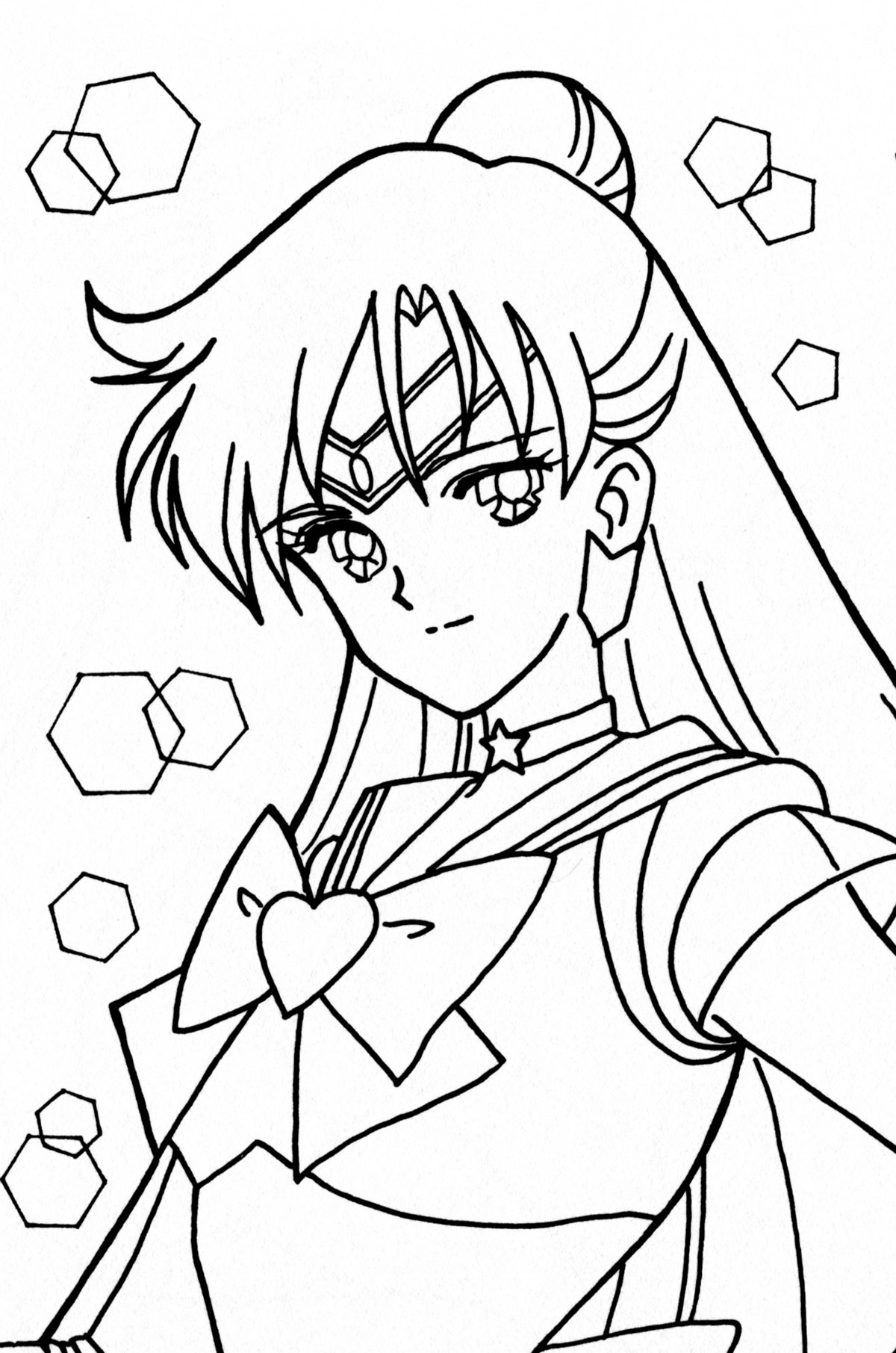Pluto Coloring Pages - Tsuki Matsuri the Sailormoon Coloring Book Archive