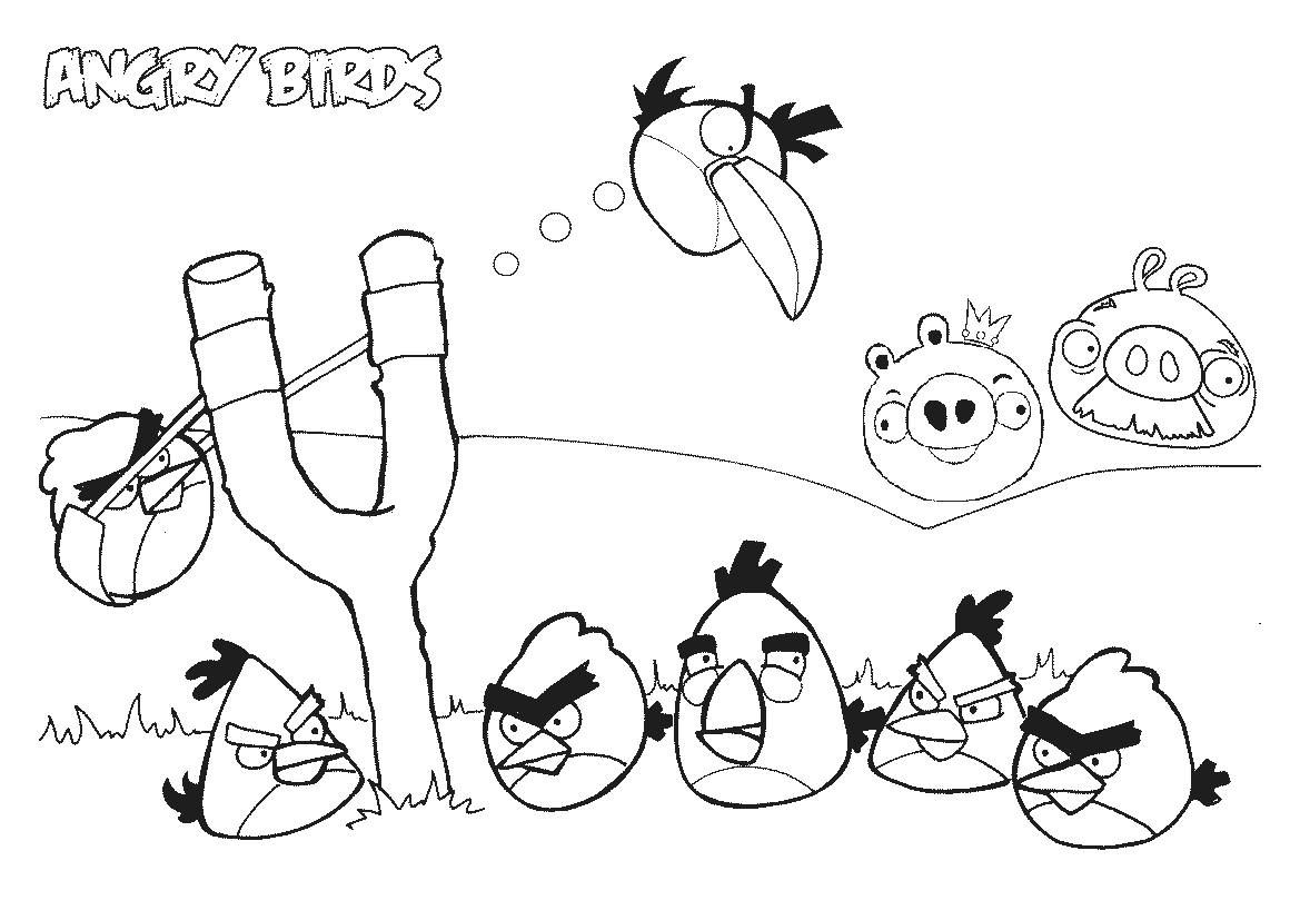 pocoyo coloring pages - angry birds coloring pages