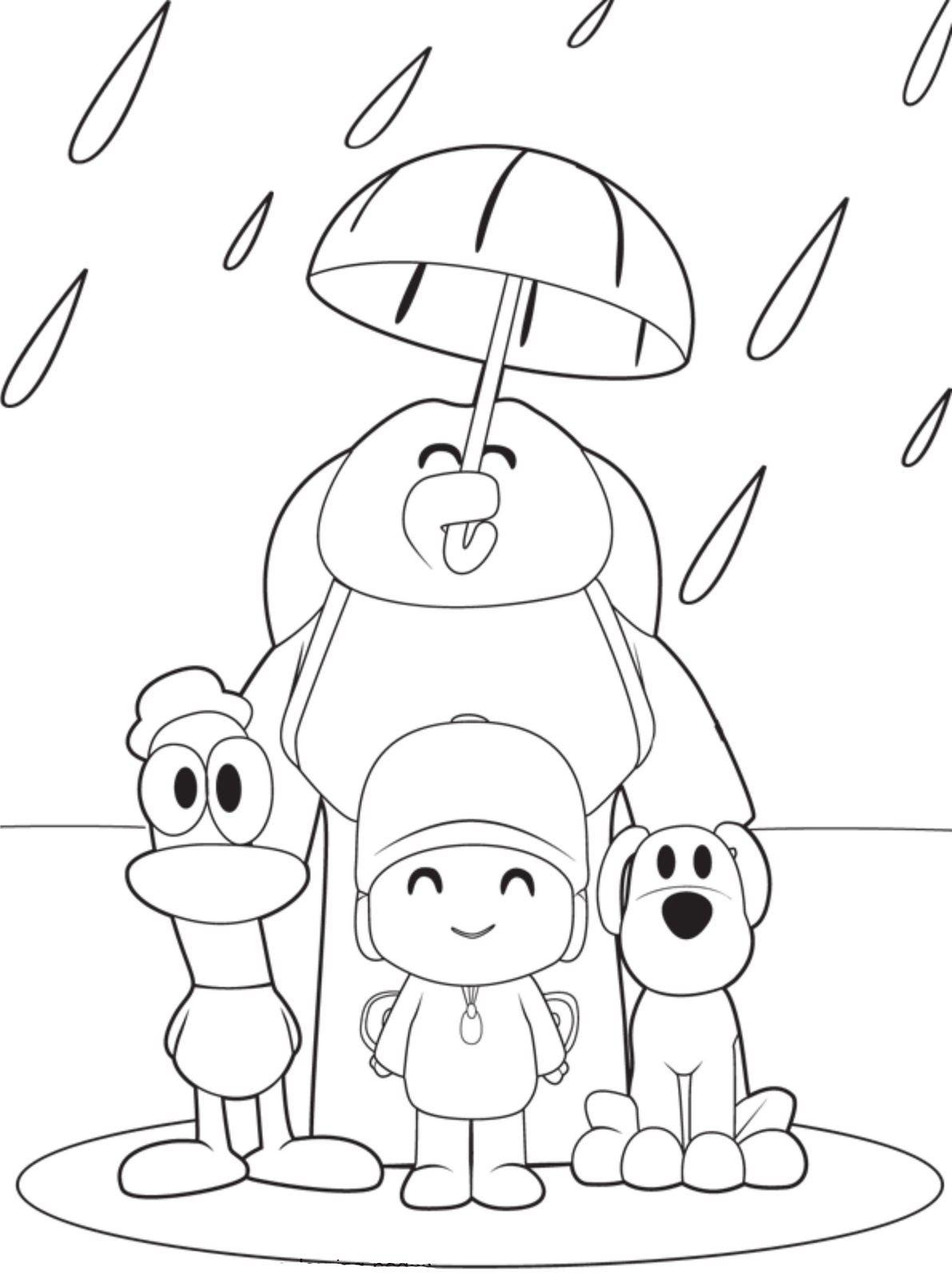 Pocoyo Coloring Pages - Pocoyo Coloring Pages Free Printable Coloring Pages