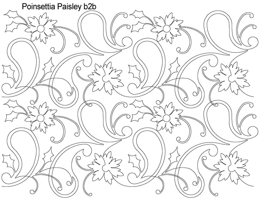 poinsettia coloring page - picture of a poinsettia
