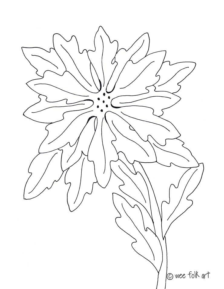 poinsettia coloring page - poinsettia coloring page