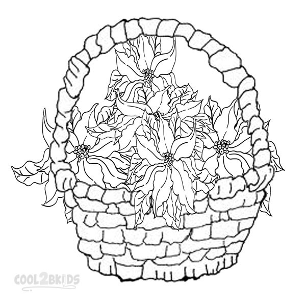 poinsettia coloring page - top 10 poinsettia coloring page for kids