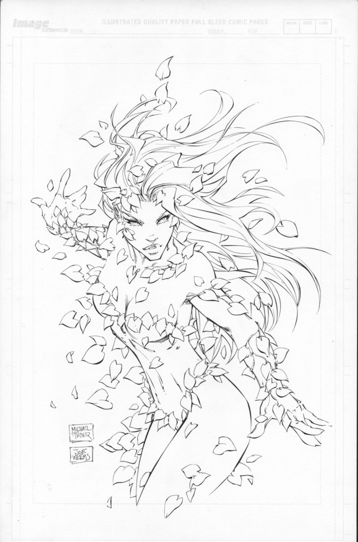 poison ivy coloring pages - poison ivy by mike turner