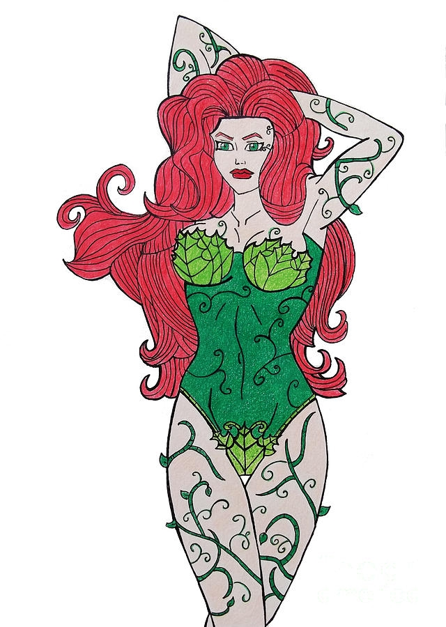 poison ivy coloring pages - poison ivy gabrielle aguilar