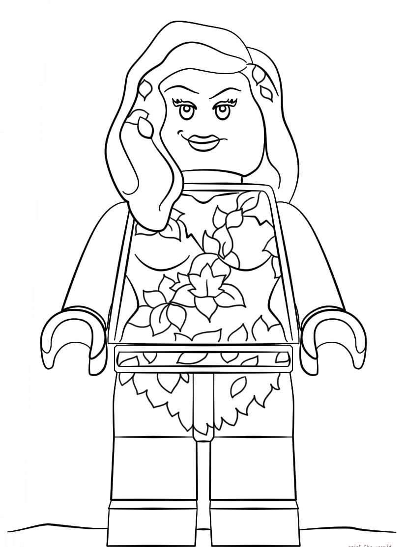 Poison Ivy Coloring Pages - the Lego Batman Movie Coloring Pages