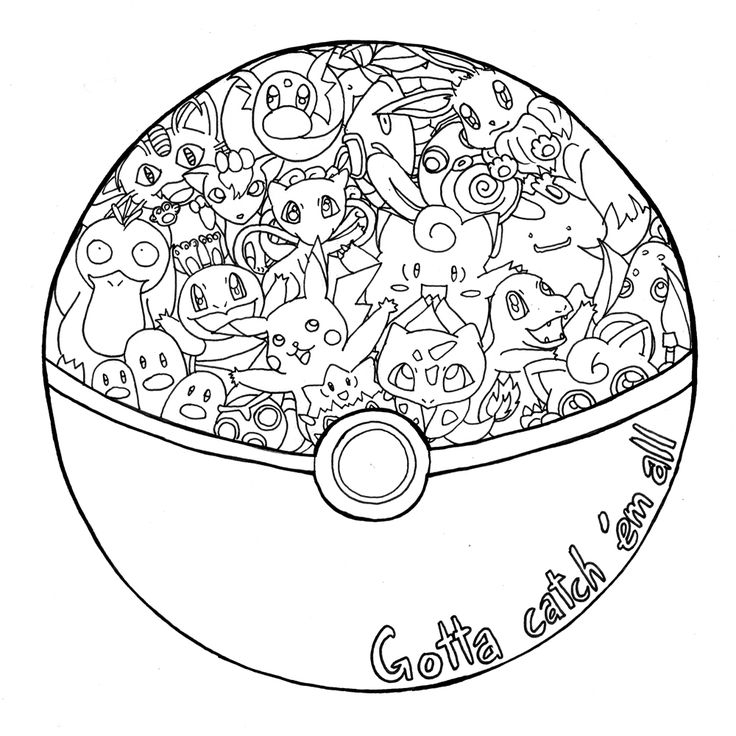 pokemon ball coloring page - colouring pages