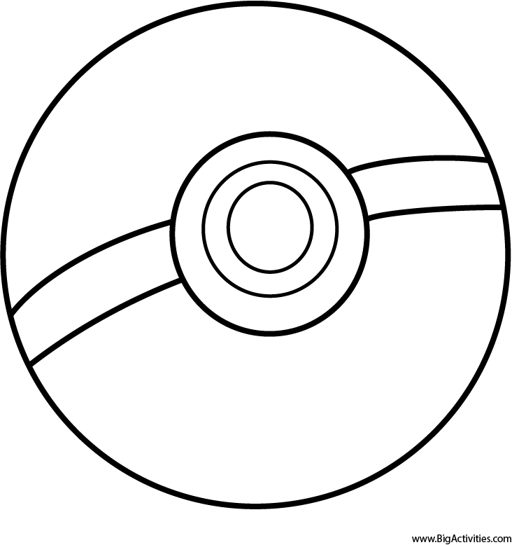 pokemon ball coloring page - pokeball