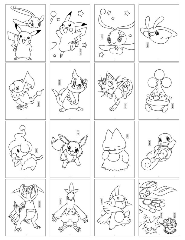 pokemon card coloring pages -