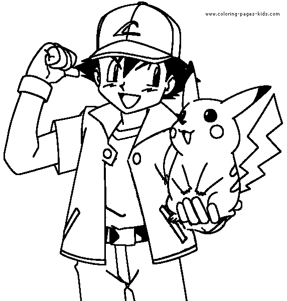 Pokemon Characters Coloring Pages