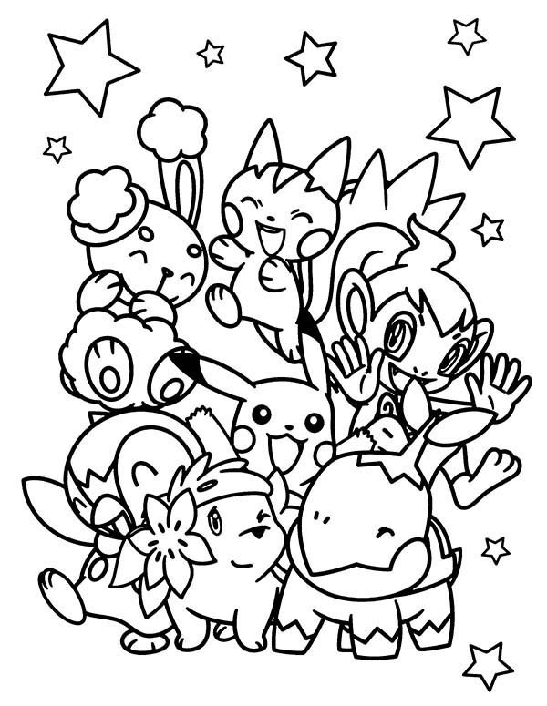 pokemon characters coloring pages - print pokemon characters coloring pages on all pokemon chiby characters coloring pages bulk color