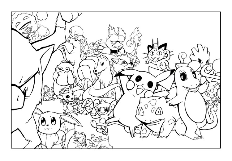 pokemon characters coloring pages - pokemon coloring pages