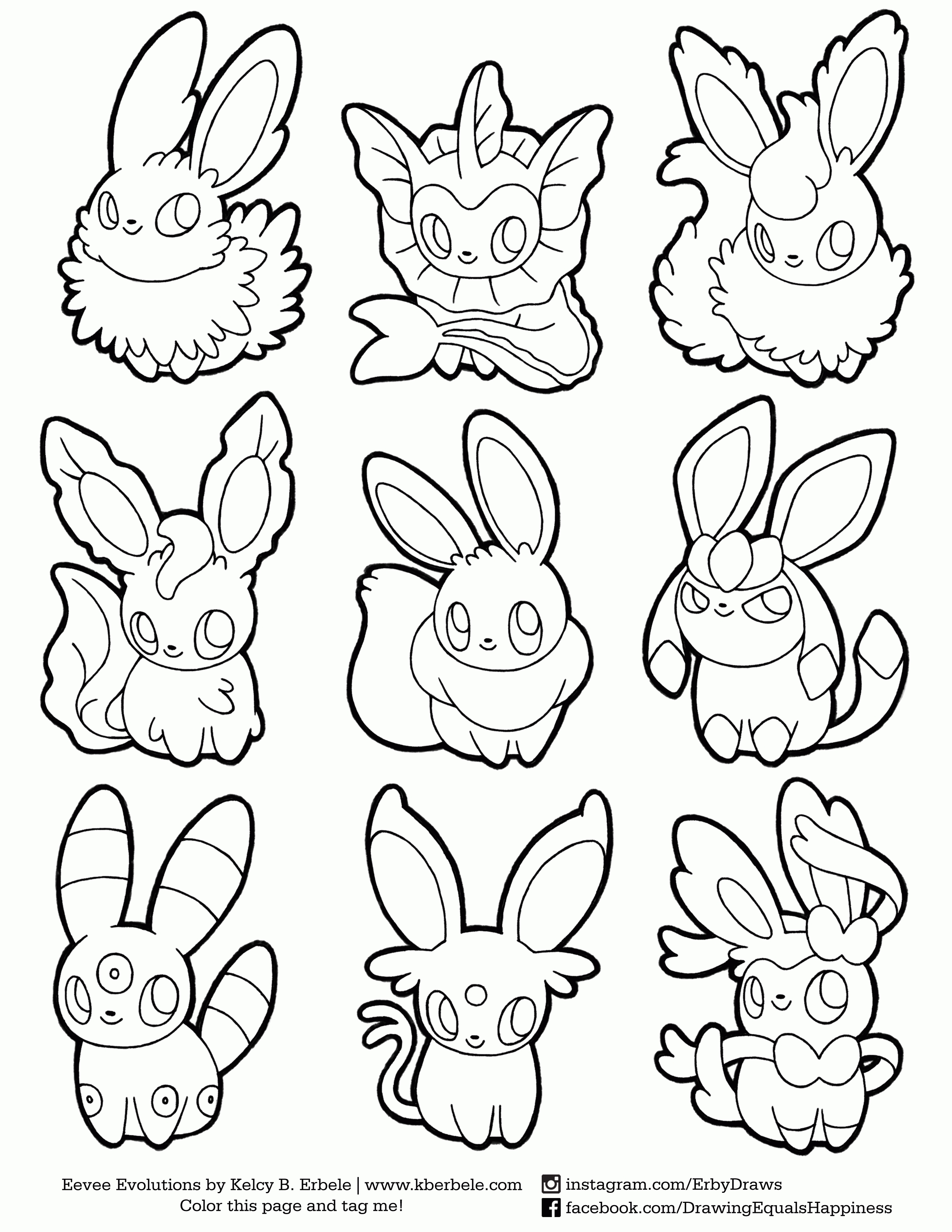 pokemon coloring pages eevee evolutions - pokemon coloring pages eevee evolutions