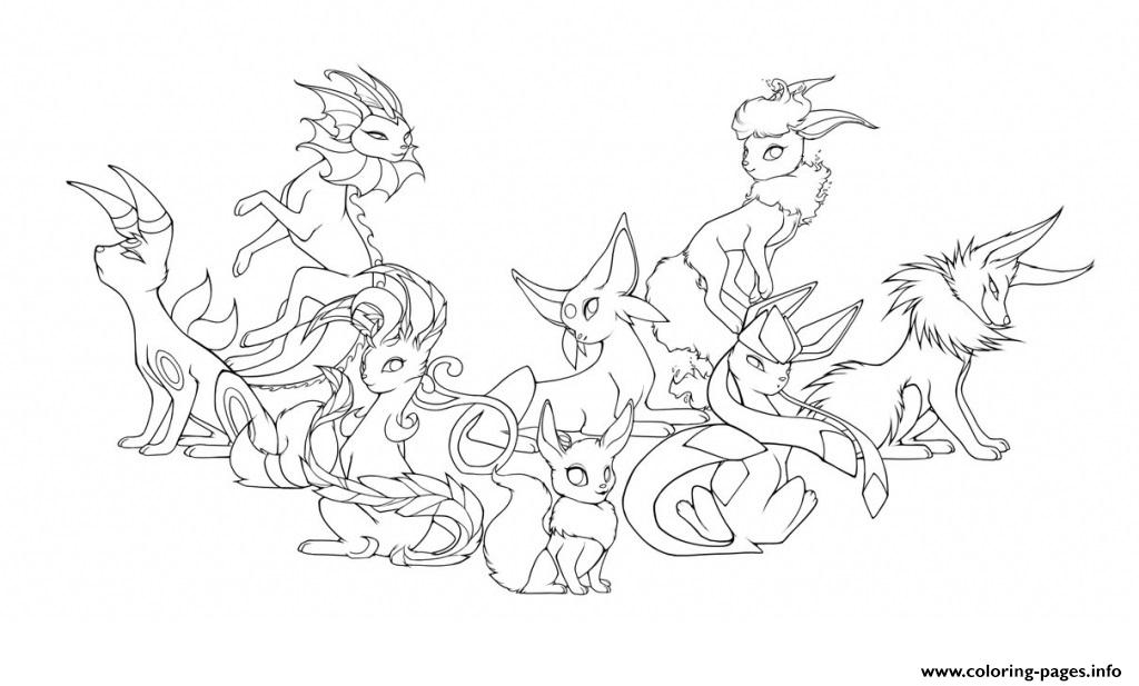 20 Pokemon Coloring Pages Eevee Evolutions Collections Free