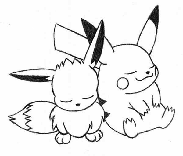 pokemon coloring pages eevee saved eevee coloring pages 6 simple pokemon eevee coloring pages 6 - Eevee Coloring Pages