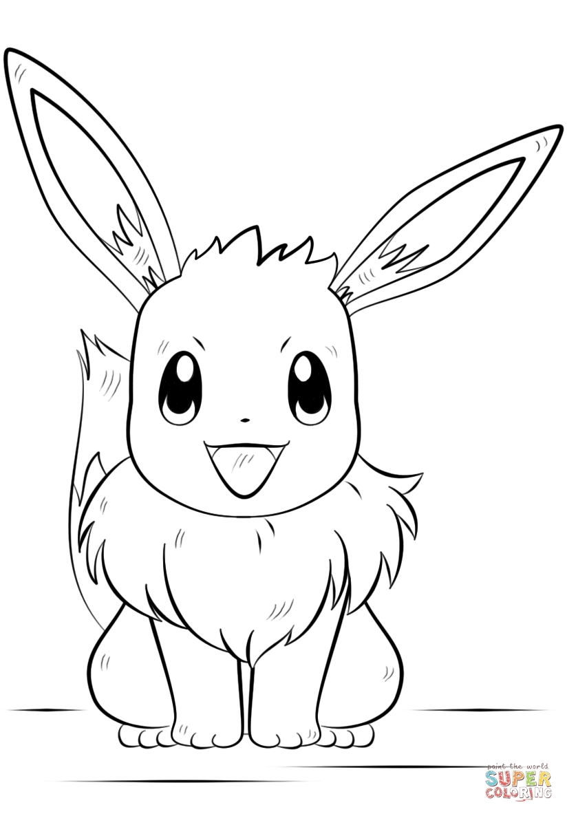 pokemon coloring pages eevee - eevee pokemon