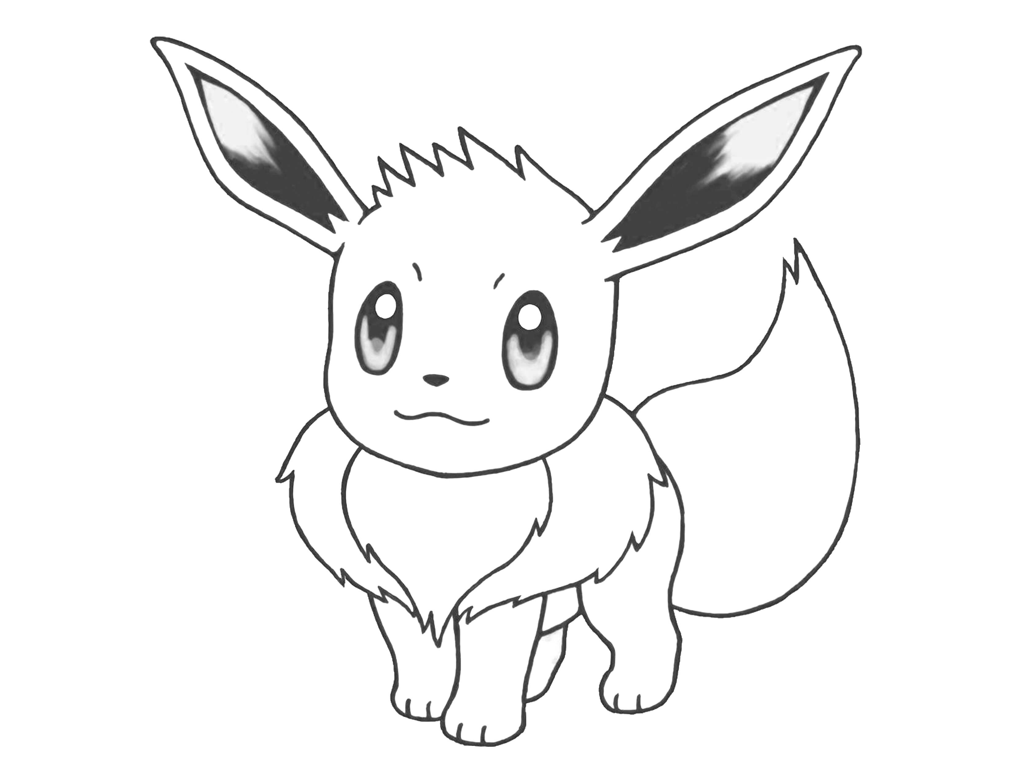 pokemon coloring pages eevee - eevee pokemon coloring pages