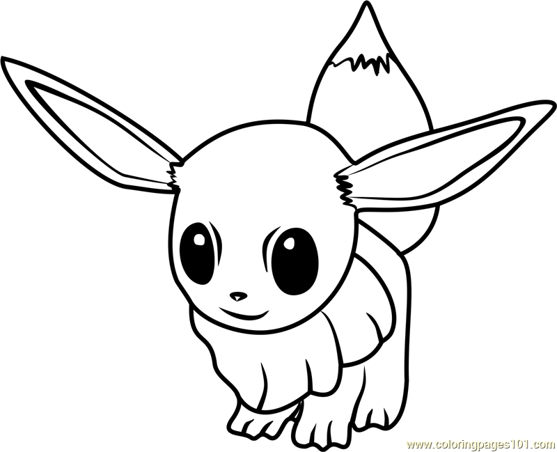 pokemon coloring pages eevee - eevee pokemon go coloring page