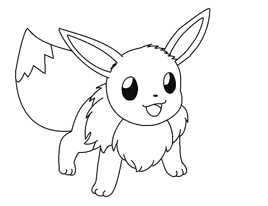 pokemon coloring pages eevee - pokemon pictures of eevee
