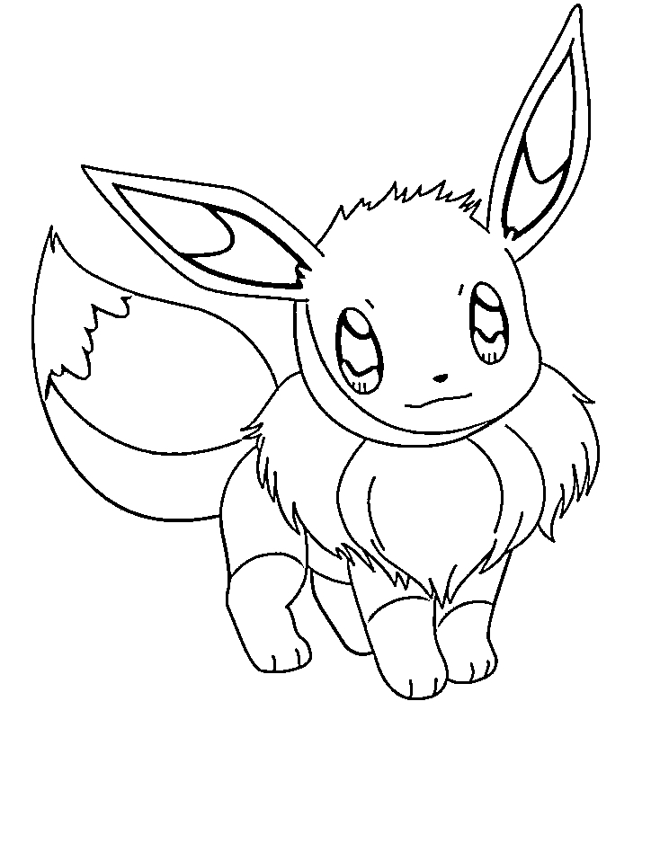 pokemon coloring pages eevee - pokemon eevee coloring pages images
