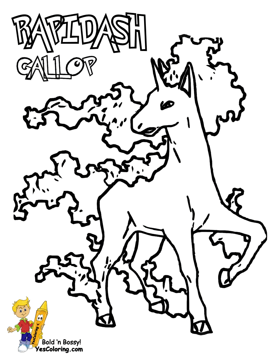 pokemon coloring pages online - pokemon ponyta coloring pages