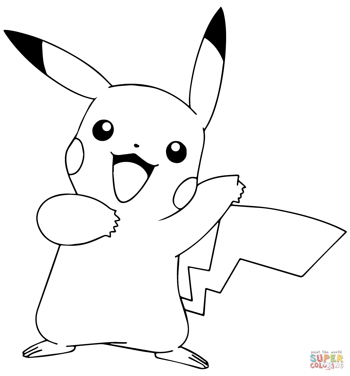 pokemon coloring pages pikachu - pikachu from pokemon go