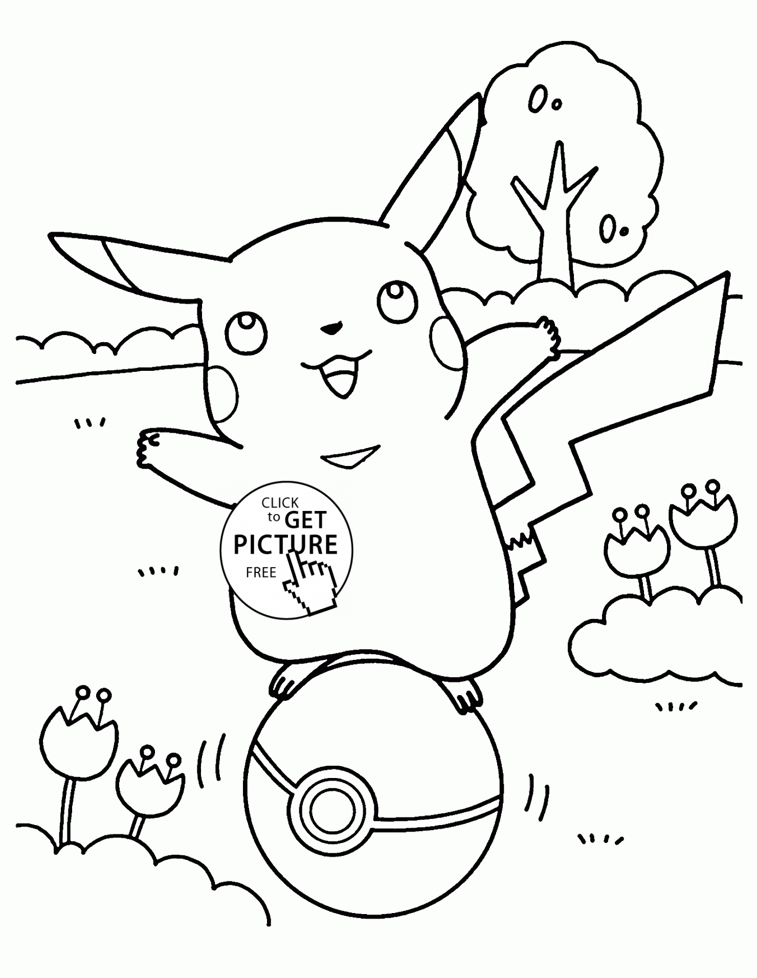 Ausmalbilder Pokemon Pikachu : 28 Pokemon Coloring Pages Pikachu Images Free Coloring Pages Part 3