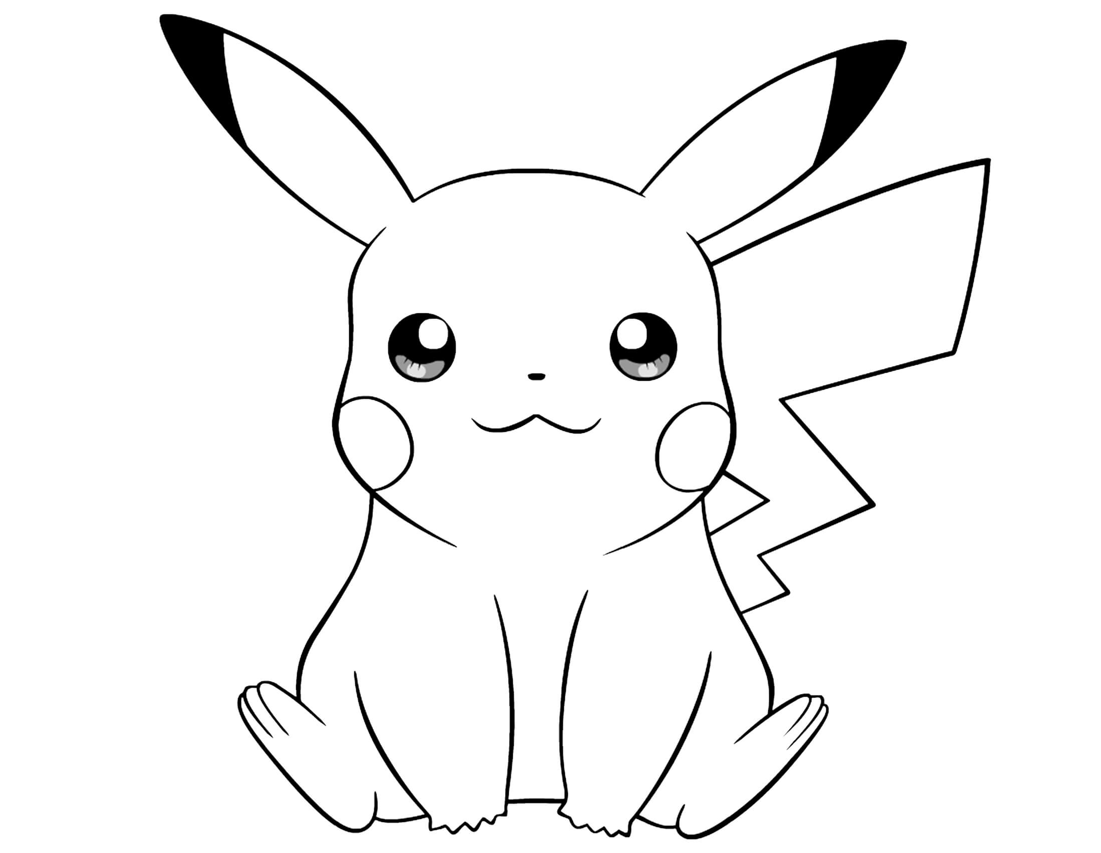 Pokemon Coloring Pages Pikachu - Pokemon Coloring Pages