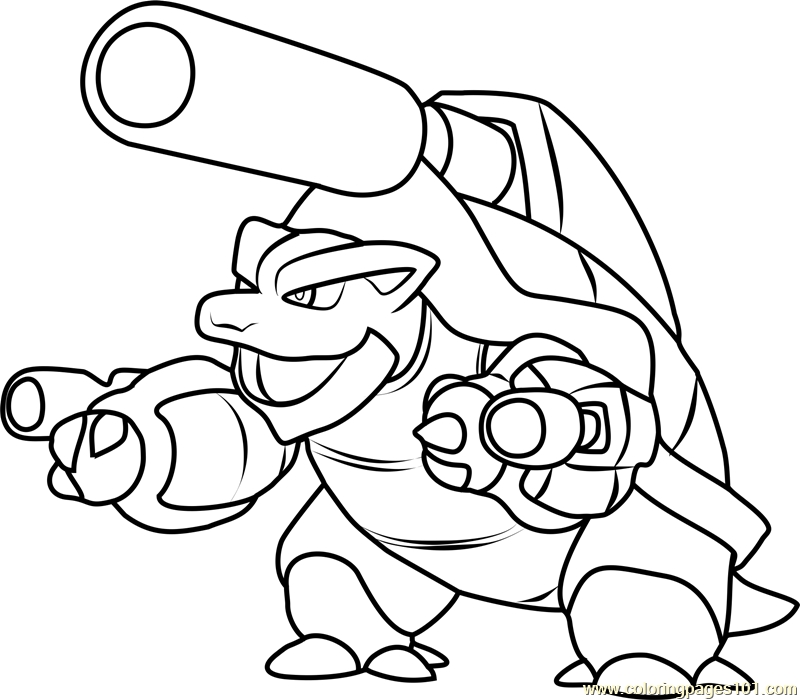 pokmon coloring pages best of blastoise coloring page 24 11 2017 - Pokemon Coloring Pages Free