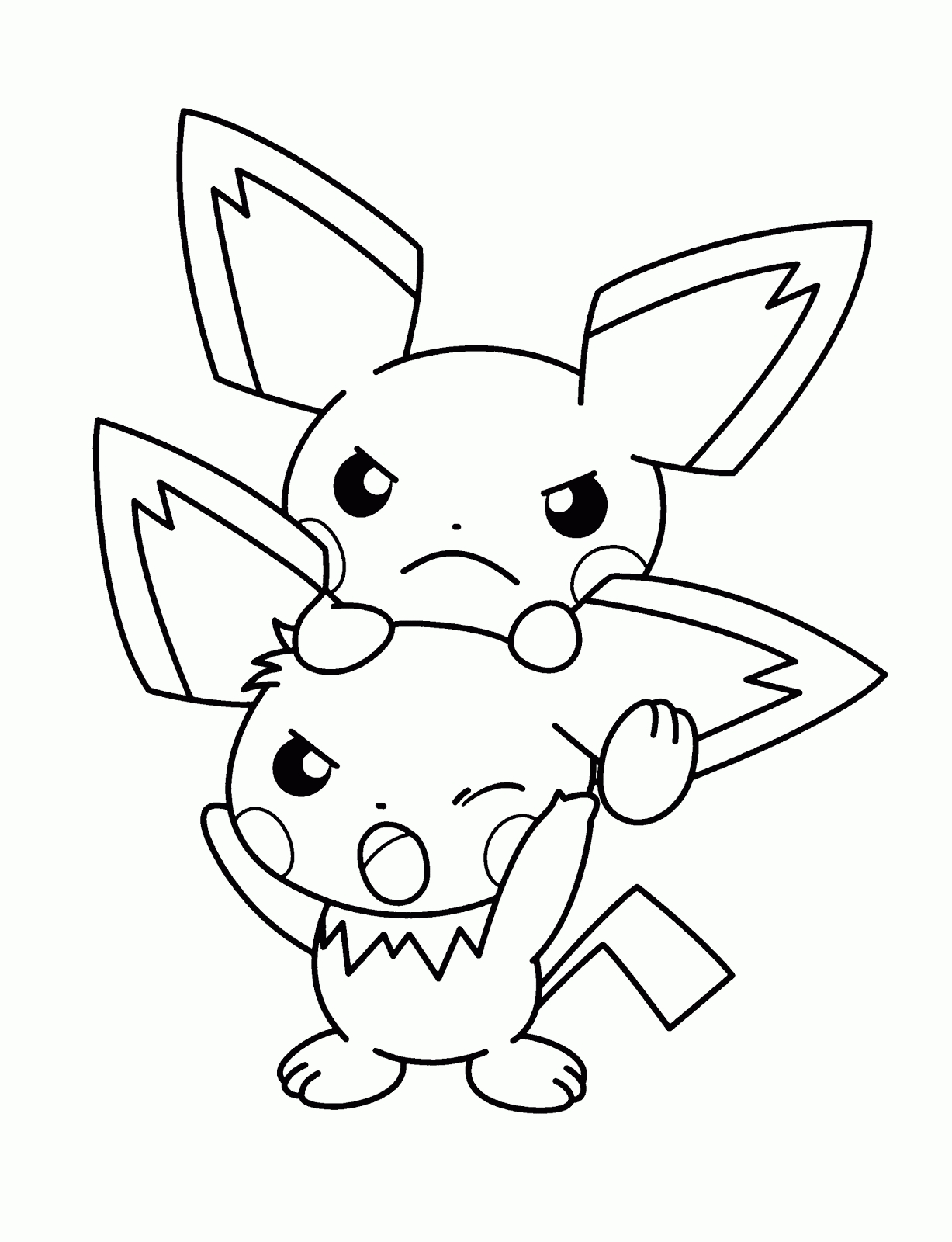pokemon coloring pages - pokemon coloring pages pikachu