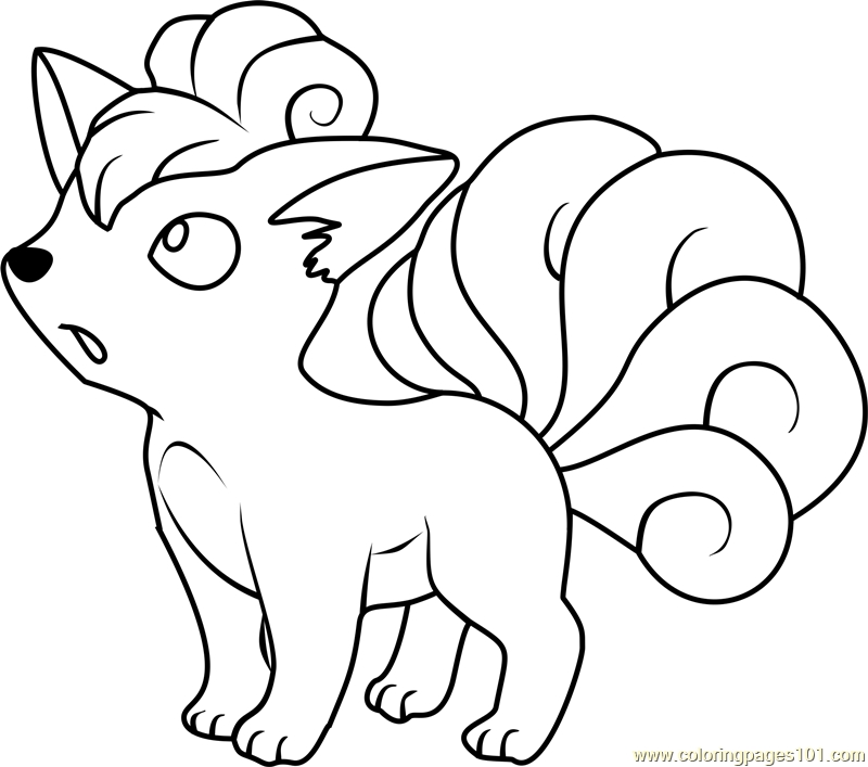 pokemon coloring pages - vulpix pokemon coloring page