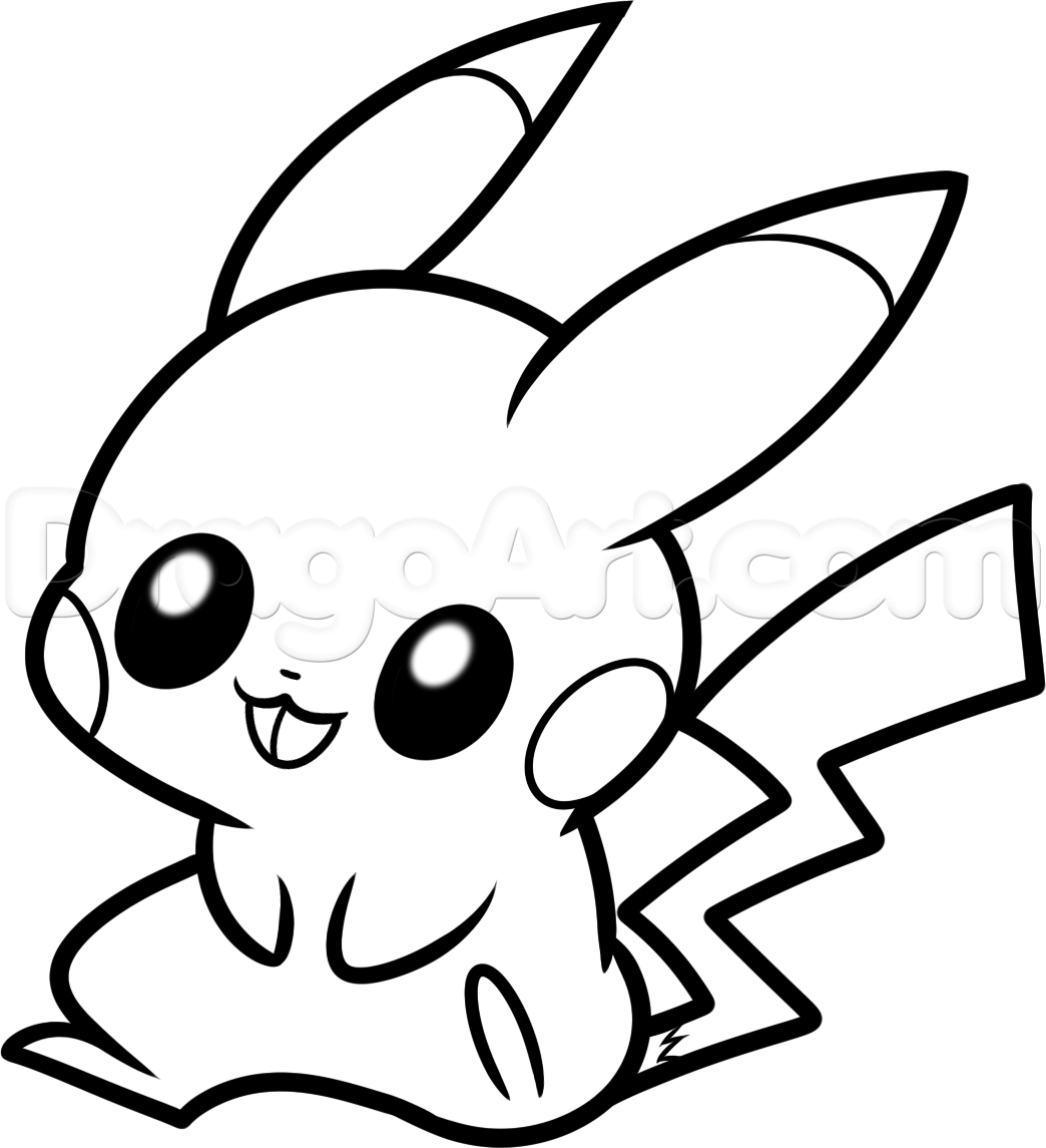 Pokemon Coloring Pages to Print - Pokemon Cute Pikachu Coloring Pages Womanmate