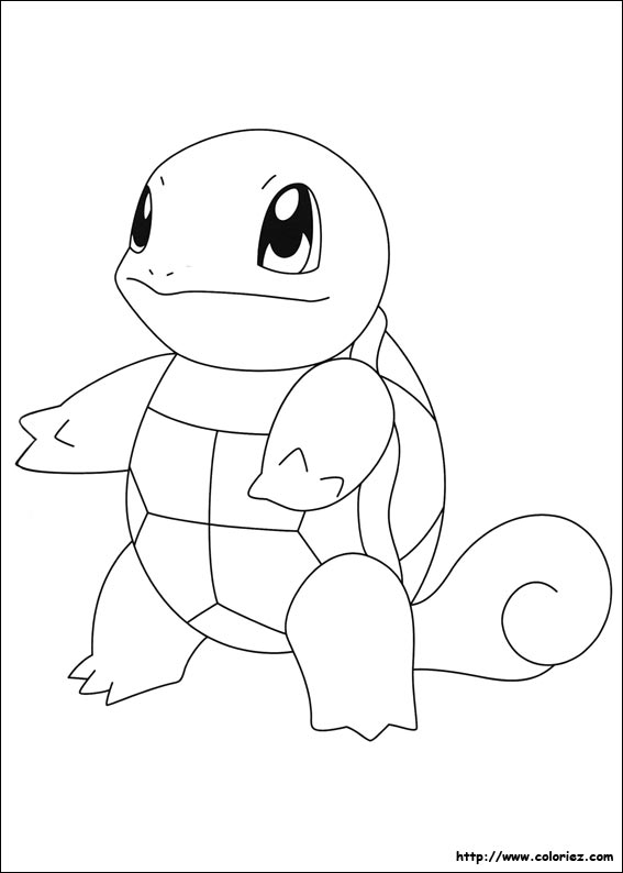 pokemon ex coloring pages - carapuce