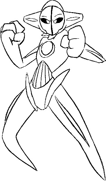 pokemon ex coloring pages - 386 it pokemon