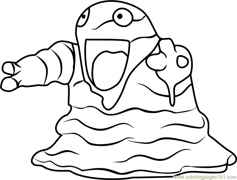pokemon go coloring pages grimer pokemon go coloring page - Pokemon Go Coloring Pages