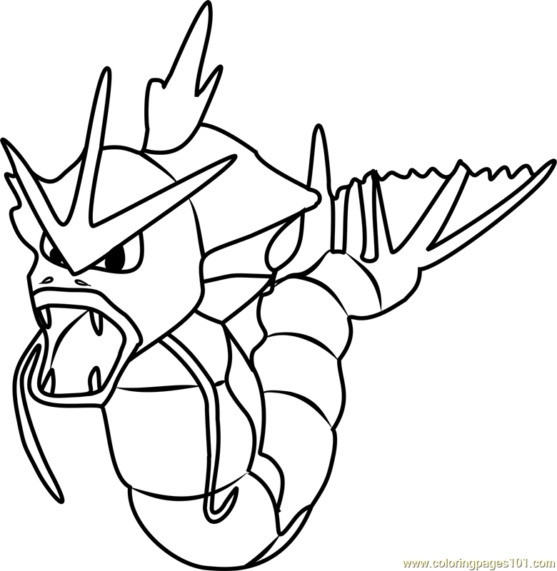Pokemon Go Coloring Pages - Gyarados Pokemon Go Coloring Page Free Pokémon Go