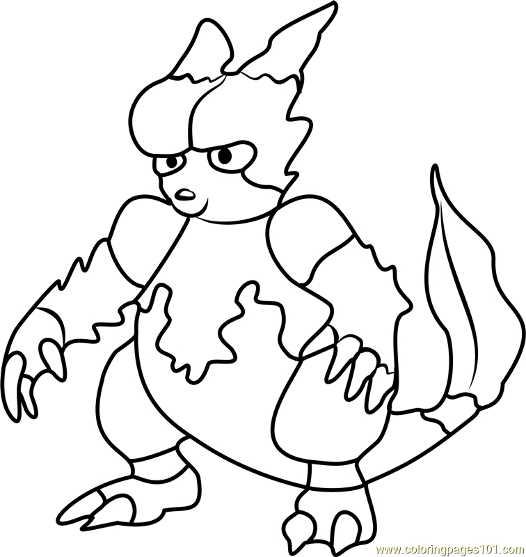 pokemon go coloring pages magmar pokemon go coloring page - Pokemon Go Coloring Pages