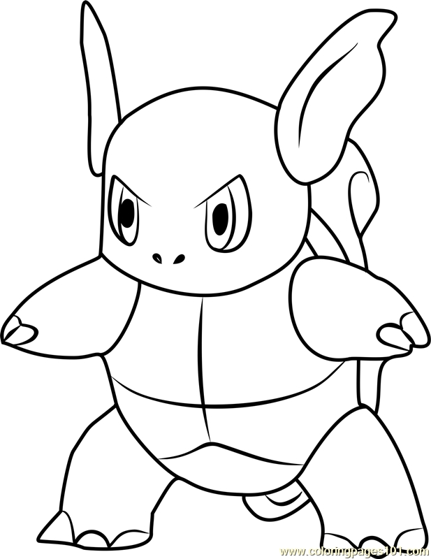 pokemon go coloring pages wartortle pokemon go coloring page - Pokemon Go Coloring Pages